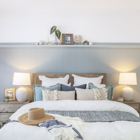 Shades of blue or gray - Coastal Decor Design Trends to Follow when decorating your beach home or vacation rental in Panama City Beach, Florida